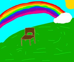 Rainbow over a... chair...