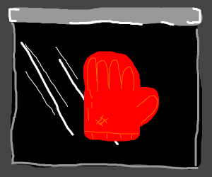 red cooking glove