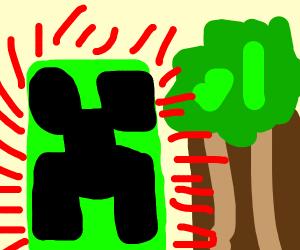 creeper scared of tree
