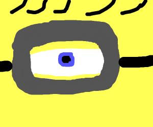 Live-action minion eye