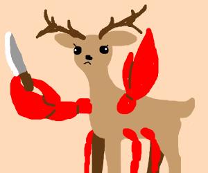 deercrab has a knife