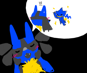 Lucario talks about a shiny banette