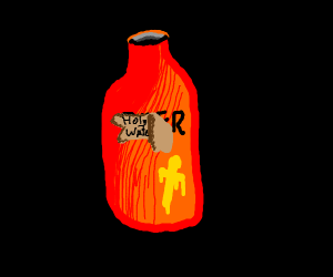 Red Bottle Of Holy Water