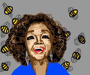 oprah with bees