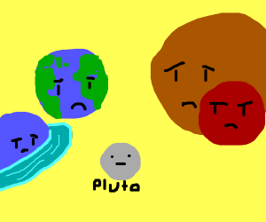 planets are upset with Pluto