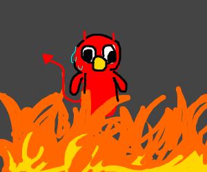 Elmo goes to He ll