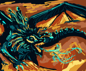 A Blue Dragon.