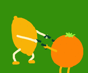 lemon and orange shoot out