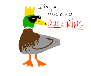 A duck king