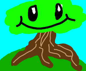 cute happy tree