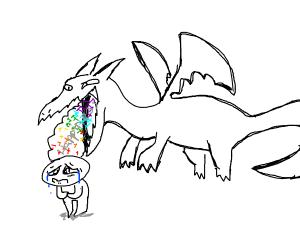Dragon Eating happiness