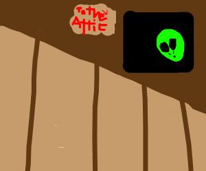 Alien in an attic