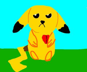 Pikachu's heart is broken