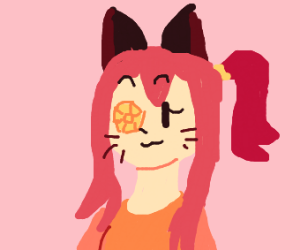Cat girl with a gem for an eye