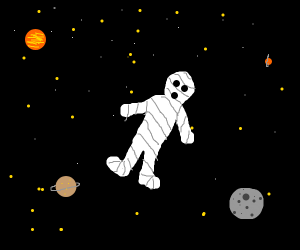 mummy in space