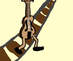 Violin crossing the Tracks