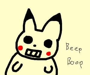 A pikachu robot