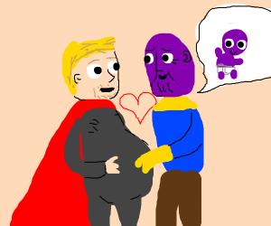 Thor Was Fat Cuz He Pregnant W/ Baby Thanos