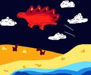 Flying Stegosaurus