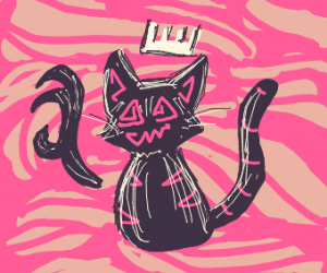 Cheshire Cat with a floating hand