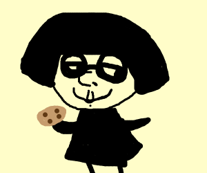 Edna Mode eats a cookie