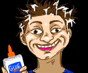 glue in hair