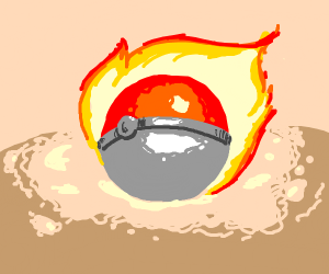pokeball on fire