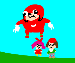 Adeleine & Ribbon & Knuckles