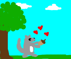 Squirrel luvz acorn