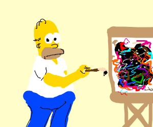 Homer Simpson paints like Pollock