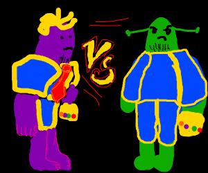 Thanos-Trump vs Thanos-Shrek
