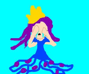 sad octopus princess