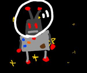 Robot dude in space