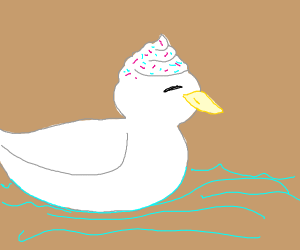 Ice cream duck