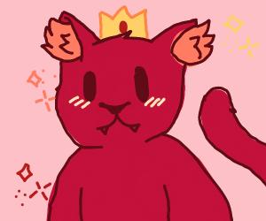 a cute lil king