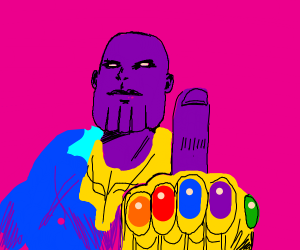thanos' flipping you off