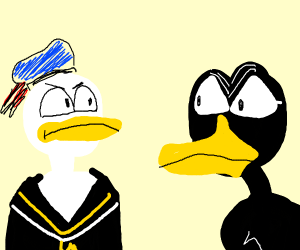 donald duck and daffy duck