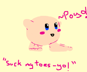 Kirby with human feet