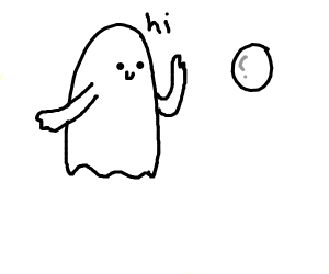 Ghost meets bubble