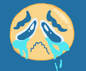 Crying emoji is really sad :(