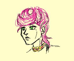 A jojo character (pink hair)