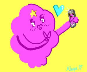 Lumpy space Princess holding phone
