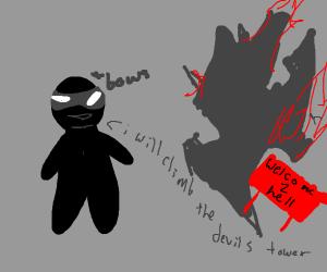 ninja vows to climb devil's tower