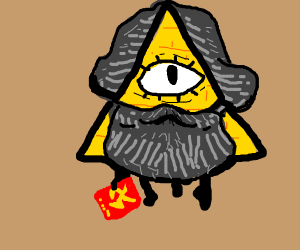 Marx and Bill Cipher fusion