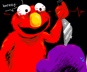 elmo gonna murder barney