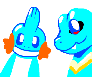 mudkip with totodile