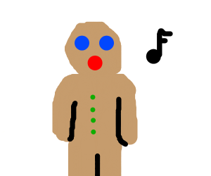 Singing ginger bread man