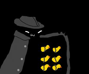 Some shady guy giving ducks uwu