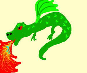 Firebreathing dragon