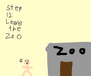 step 11; defecate the kangaroo